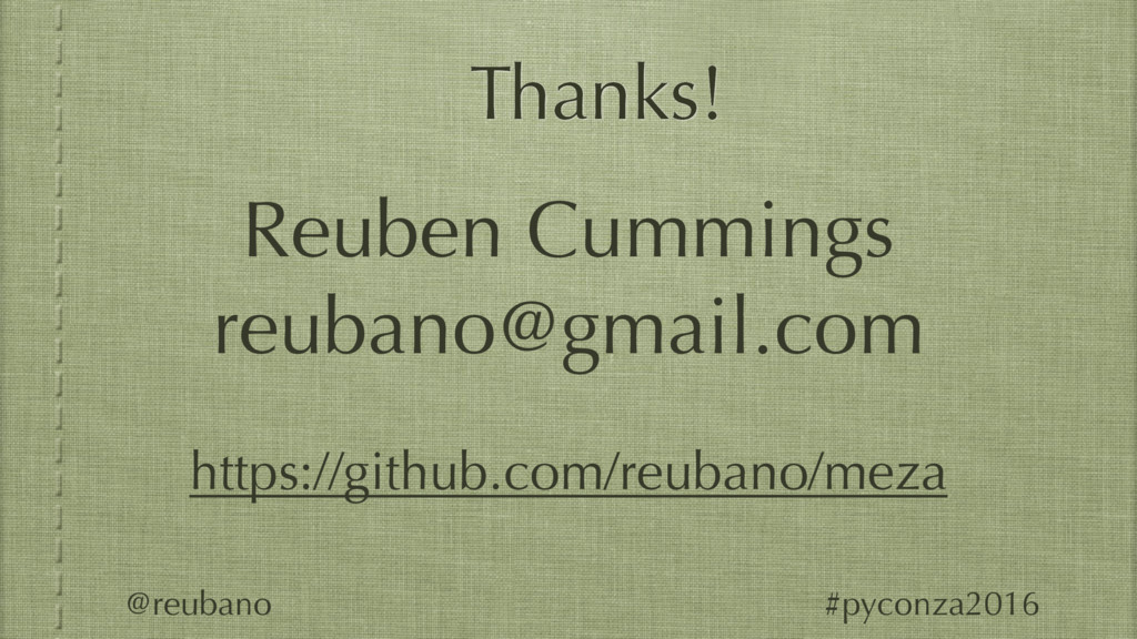 Thanks! Reuben Cummings reubano@gmail.com https...