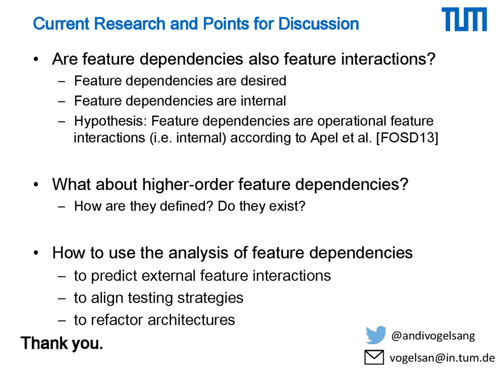 Current Research and Points for Discussion • Ar...