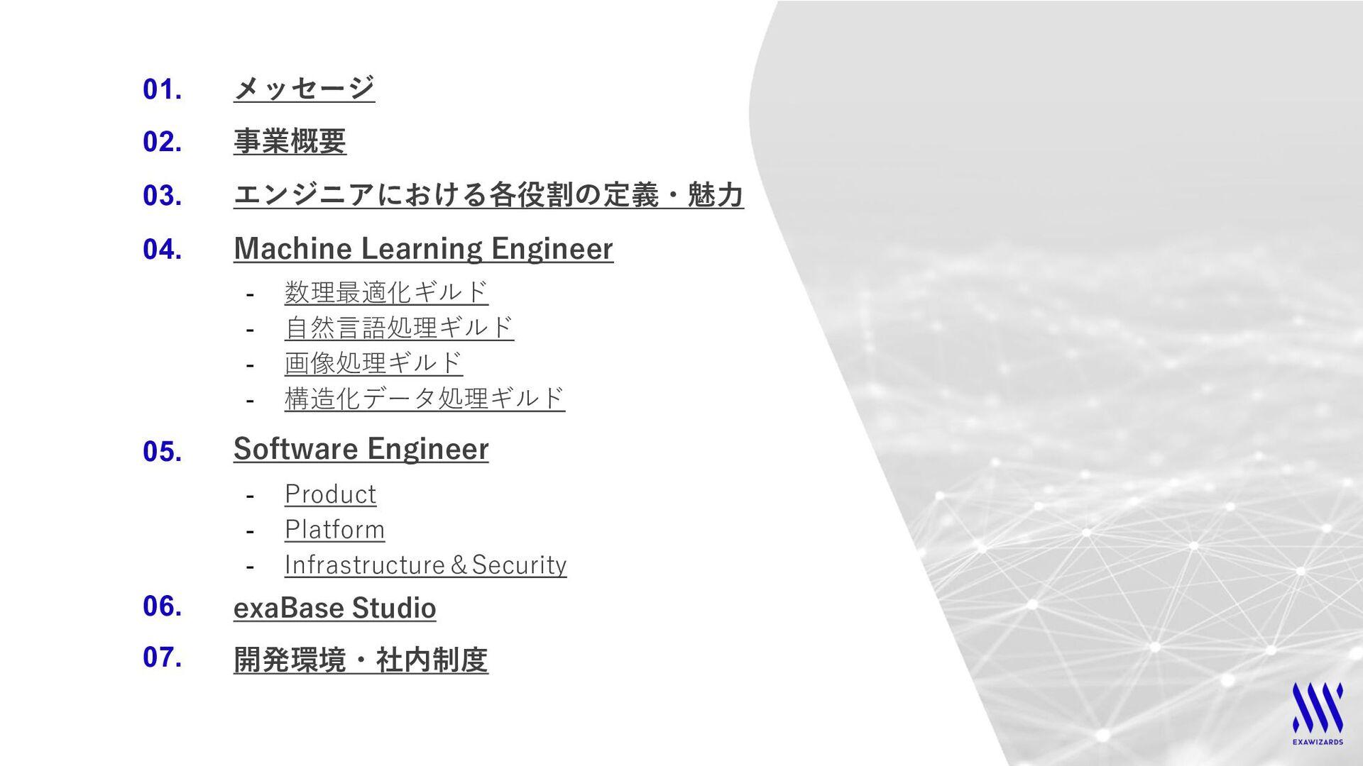 KEY MESSAGE 世界中のウィザード達が 人工知能で社会課題を解決する場 日本が先行して...