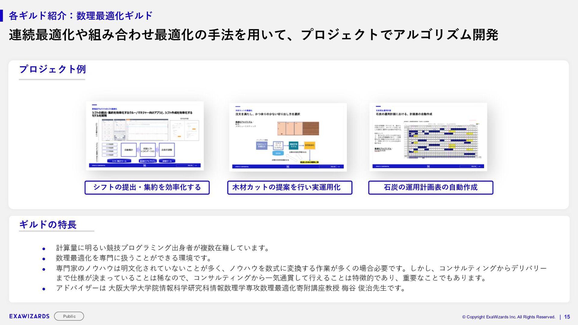 STRICTLY CONFIDENTIAL   16 各ギルド紹介_画像処理ギルド ■ギルドの...