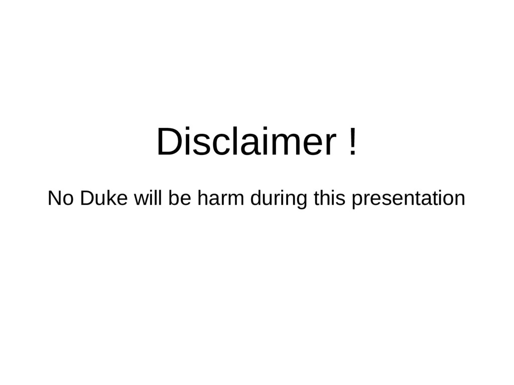 Disclaimer ! No Duke will be harm during this p...