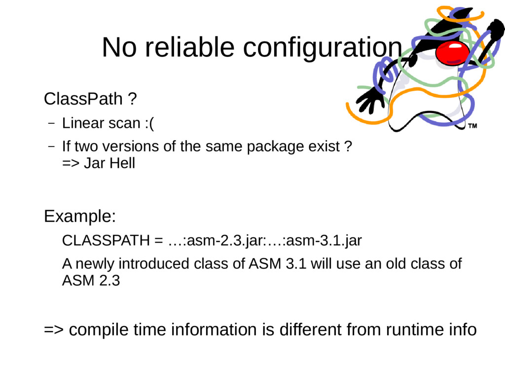 No reliable configuration ClassPath ? – Linear ...