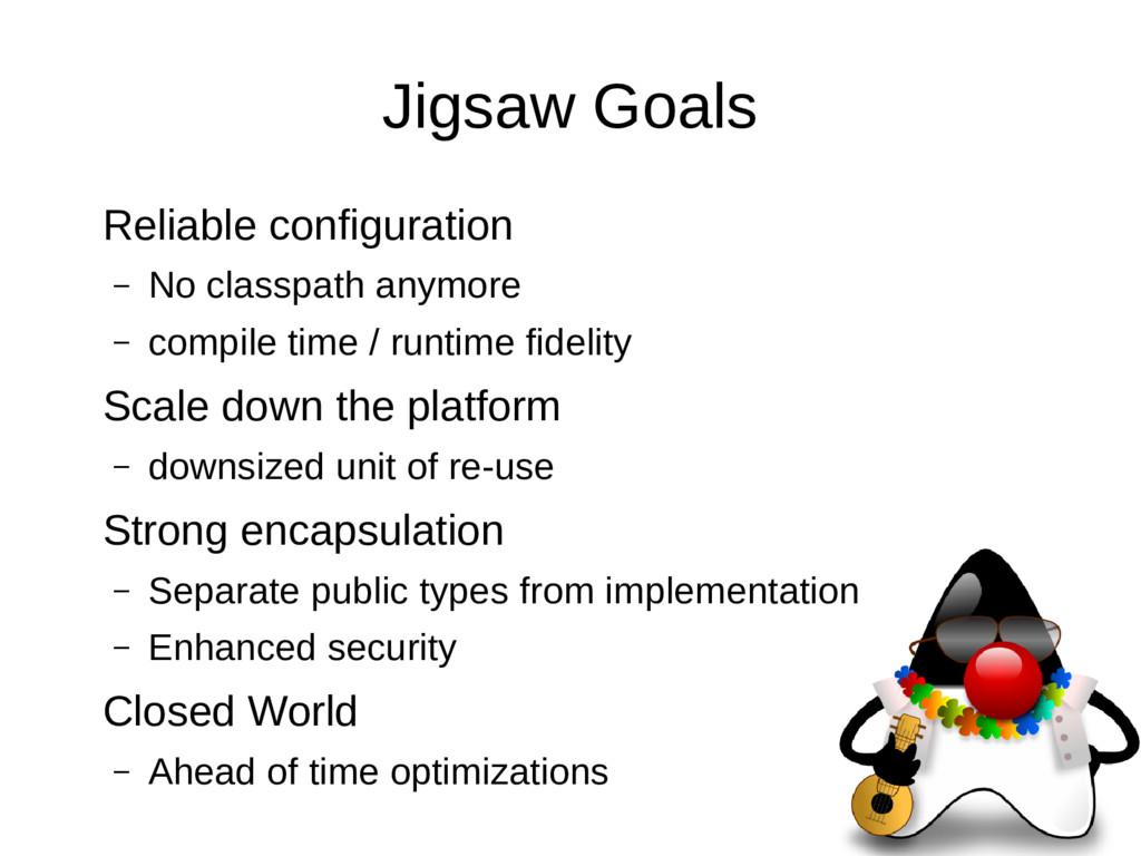 Jigsaw Goals Reliable configuration – No classp...