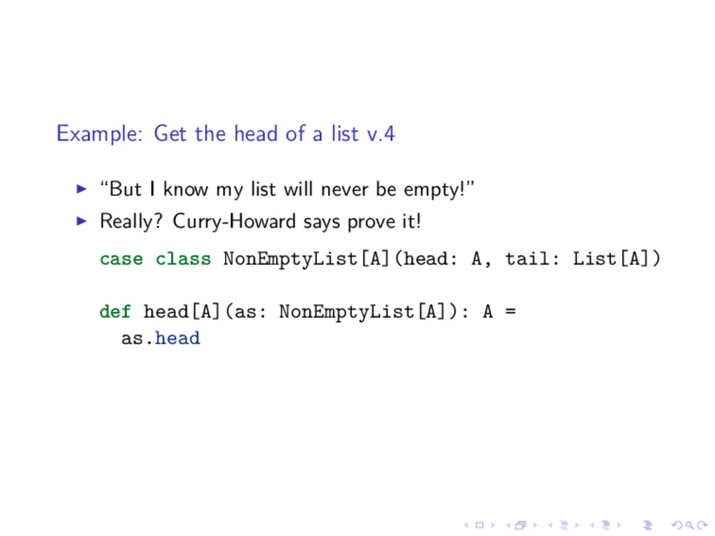 """Example: Get the head of a list v.4 """"But I know..."""