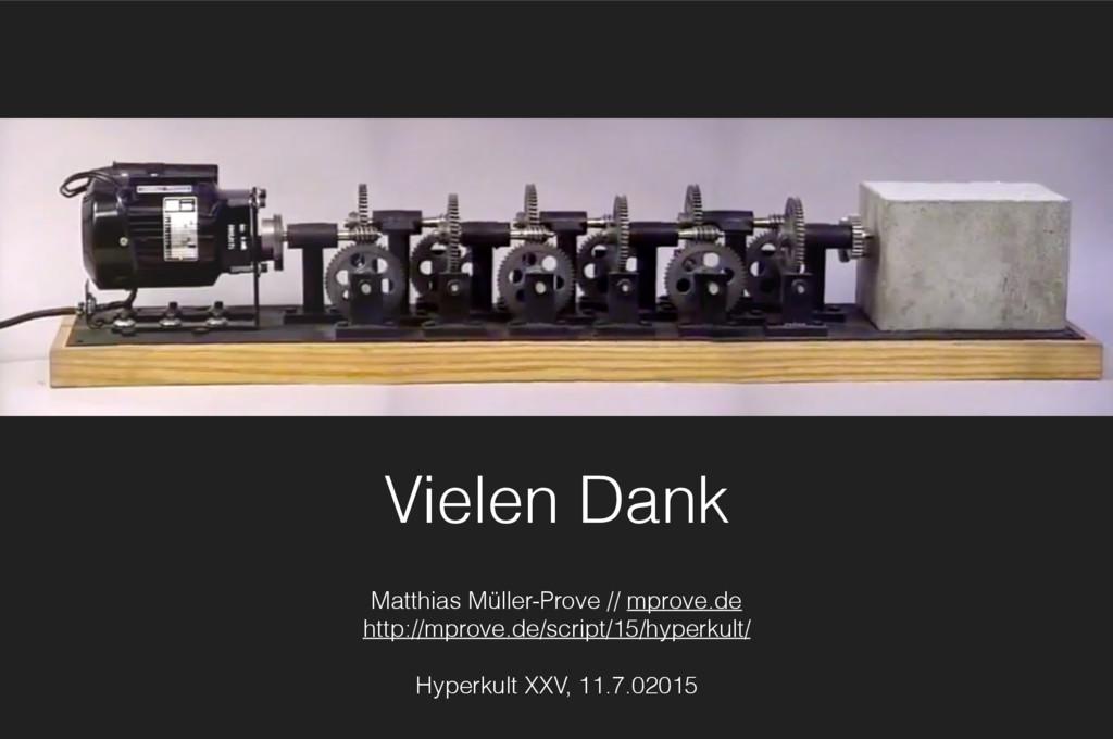 Vielen Dank Matthias Müller-Prove // mprove.de ...