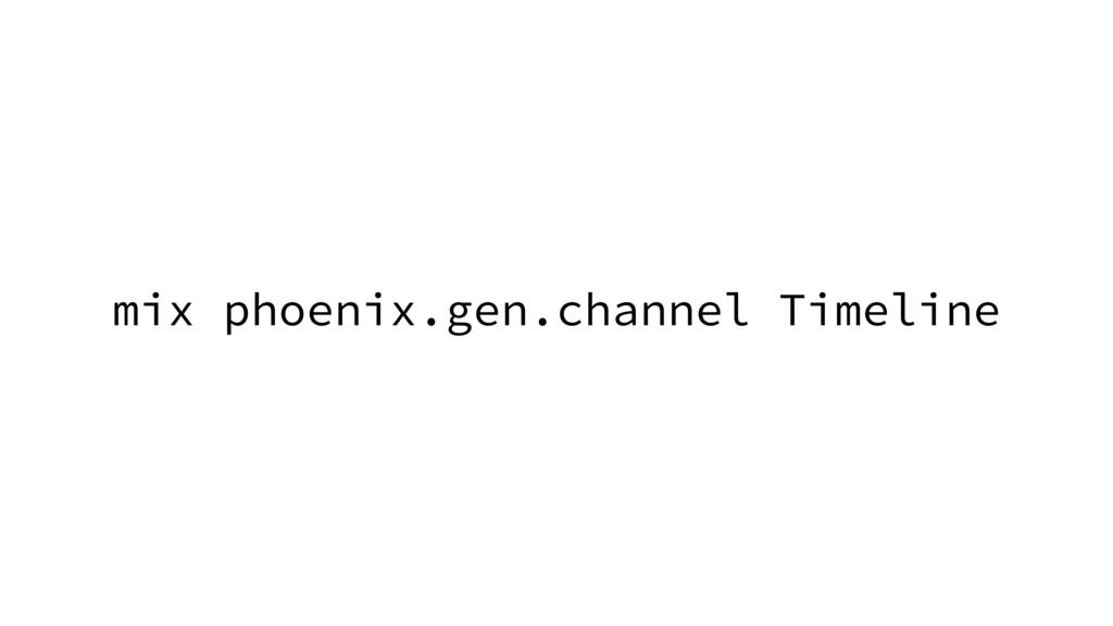 mix phoenix.gen.channel Timeline
