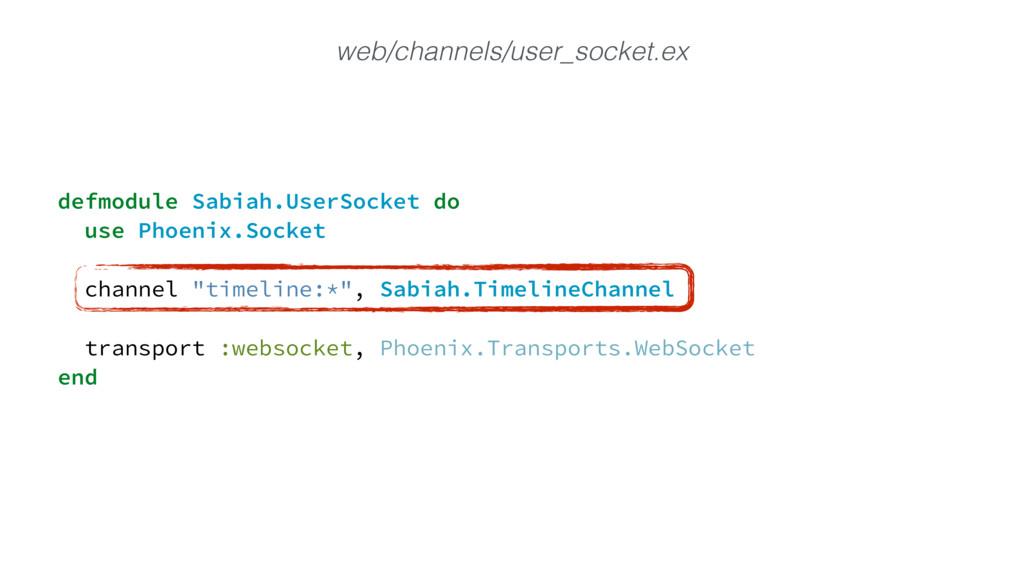 defmodule Sabiah.UserSocket do use Phoenix.Sock...