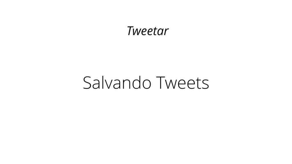 Salvando Tweets Tweetar