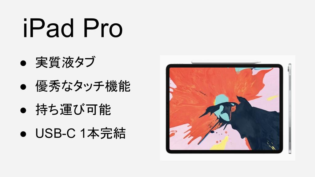 ● 実質液タブ ● 優秀なタッチ機能 ● 持ち運び可能 ● USB-C 1本完結 iPad P...