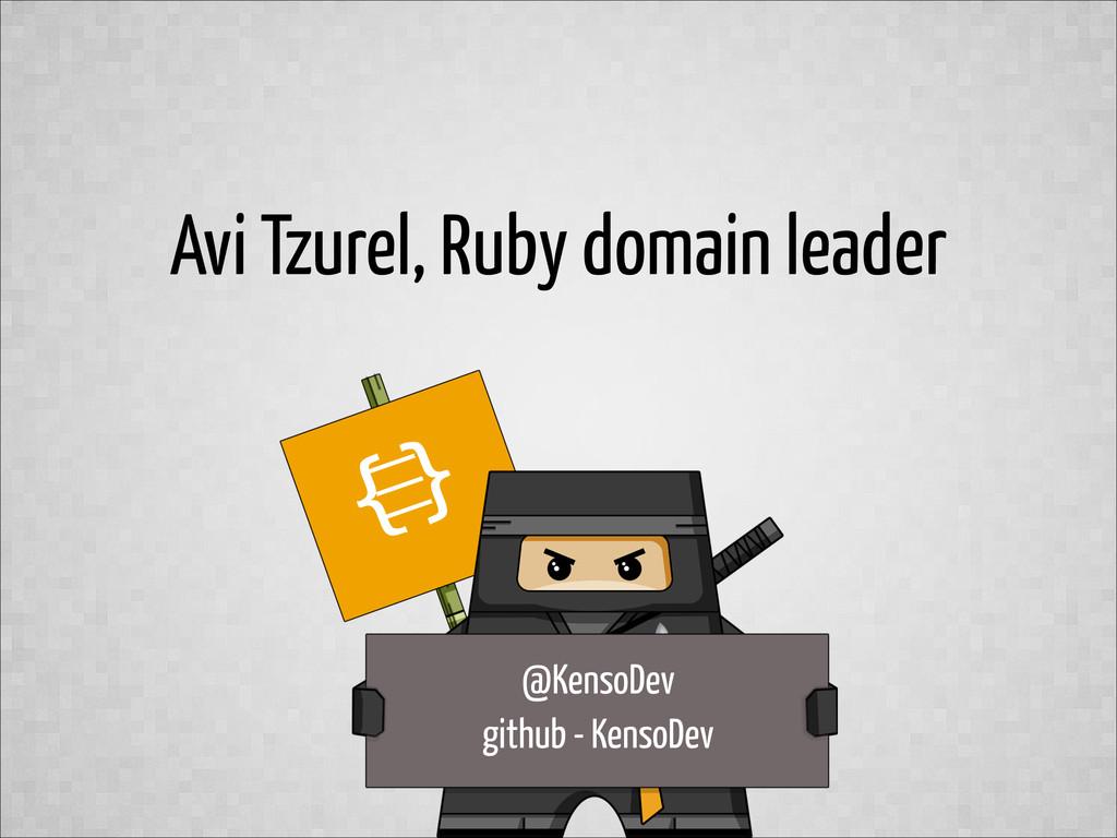 Avi Tzurel, Ruby domain leader @KensoDev github...