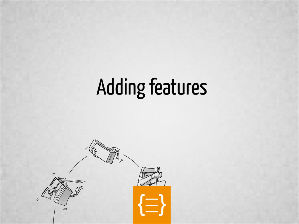text Adding features