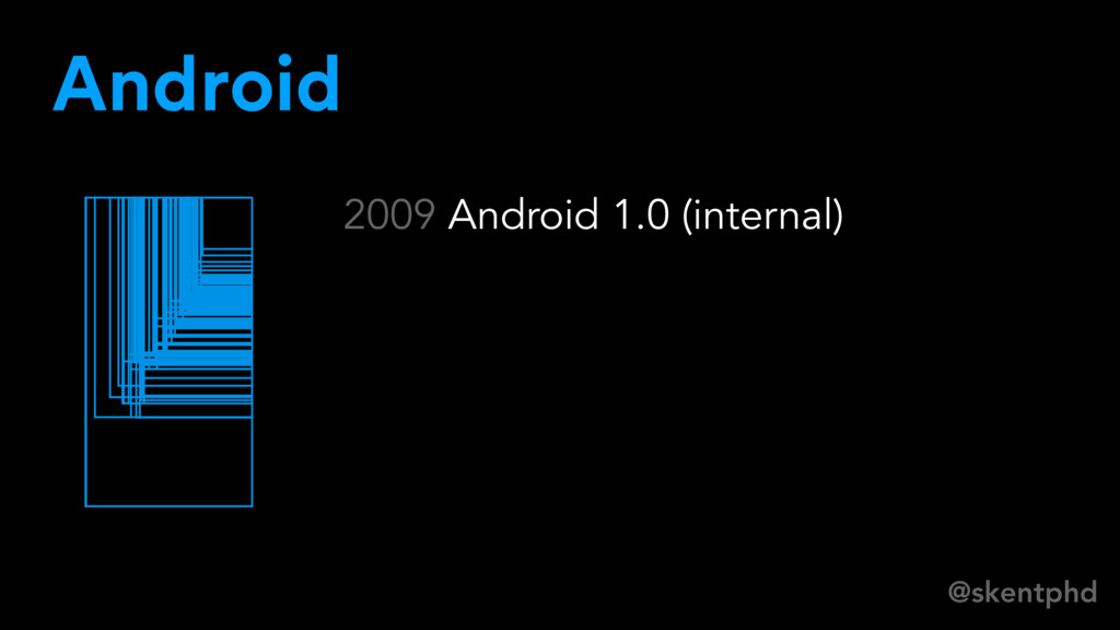 @skentphd 2009 Android 1.0 (internal) Android