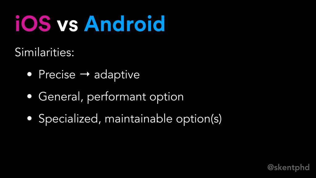 @skentphd iOS vs Android Similarities: • Precis...