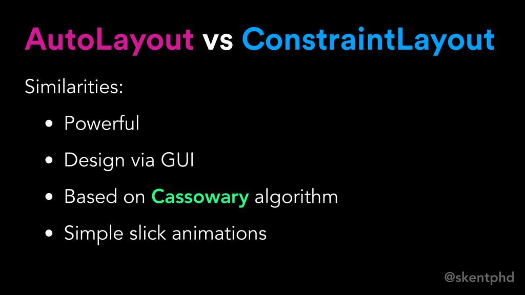@skentphd AutoLayout vs ConstraintLayout Simila...