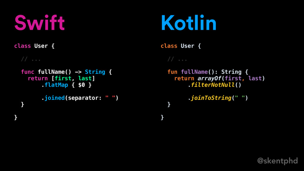 @skentphd Swift class User { // ... func fullNa...