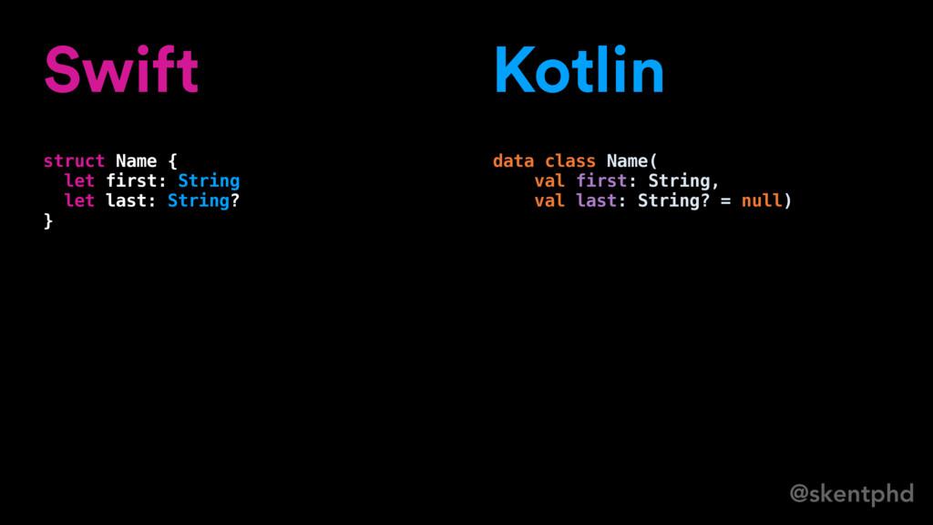 @skentphd Swift struct Name { let first: String...