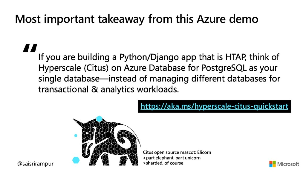 Most important takeaway from this Azure demo Ci...