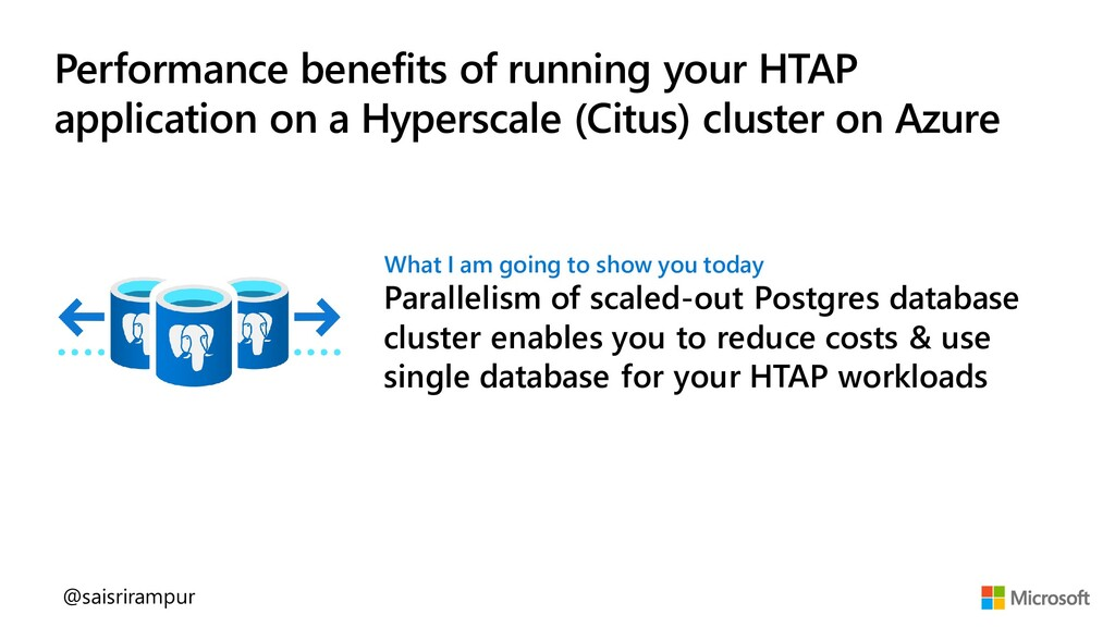 Performance benefits of running your HTAP appli...