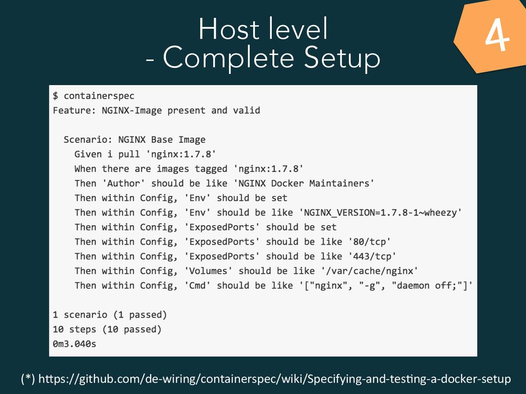 Host level - Complete Setup 4 (*) h&ps://git...