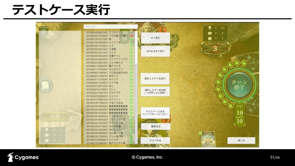 51/xx テストケース実行