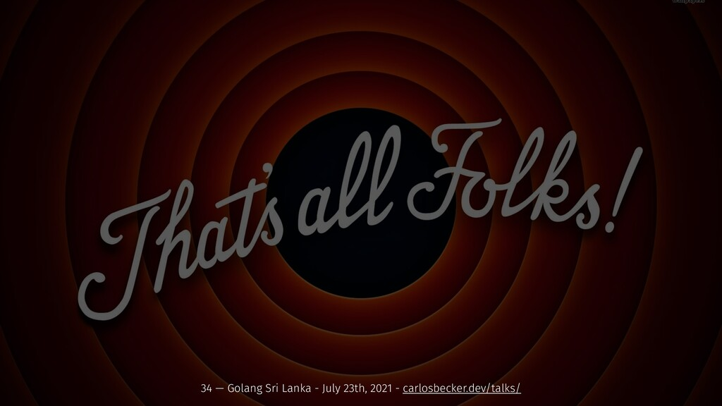 34 — Golang Sri Lanka - July 23th, 2021 - carlo...