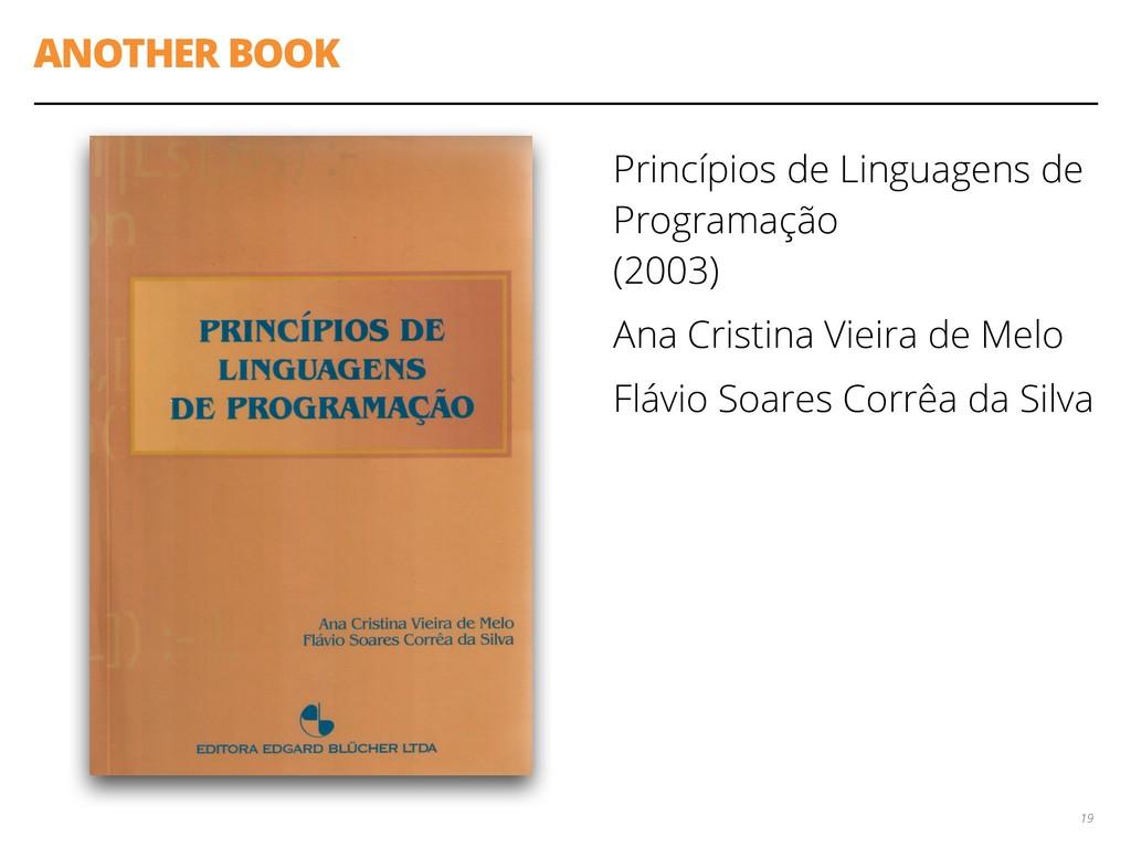 ANOTHER BOOK Princípios de Linguagens de Progra...