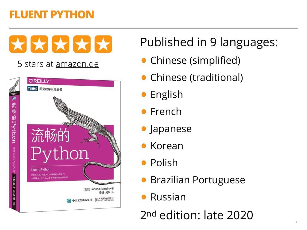 FLUENT PYTHON 3 5 stars at amazon.de Published ...