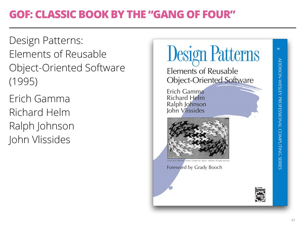 """GOF: CLASSIC BOOK BY THE """"GANG OF FOUR"""" Design ..."""