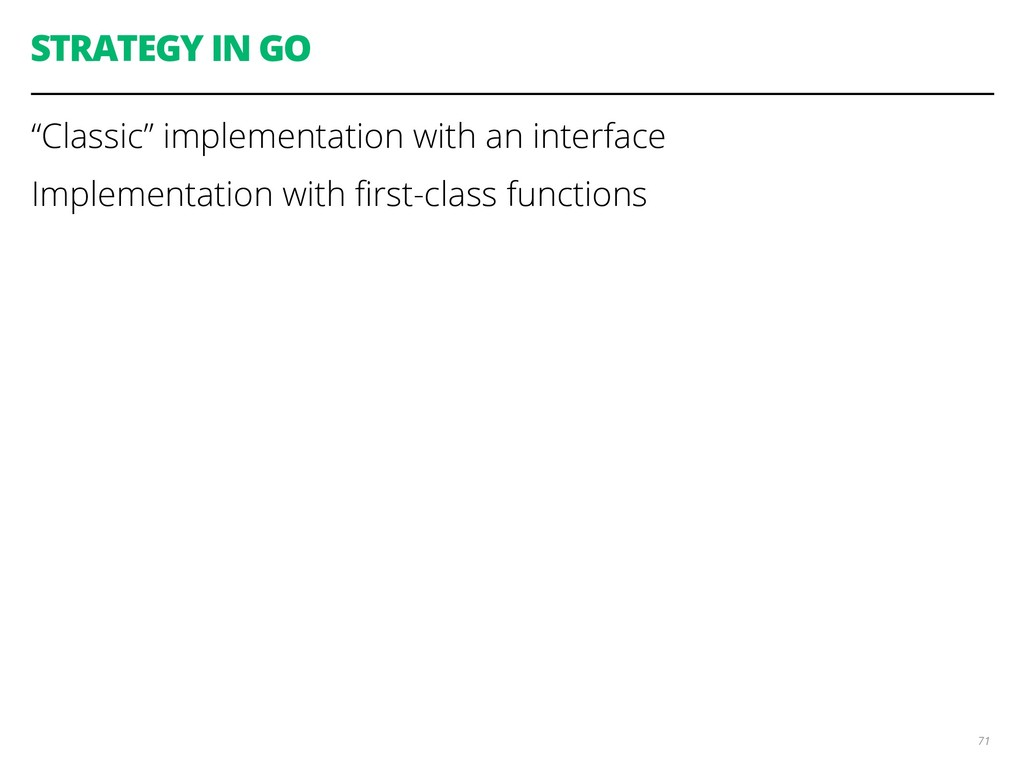 """STRATEGY IN GO """"Classic"""" implementation with an..."""