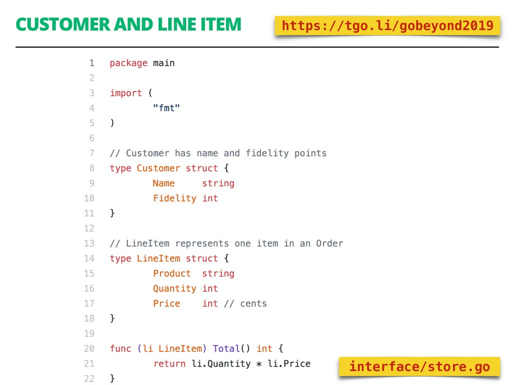 CUSTOMER AND LINE ITEM 74 interface/store.go ht...