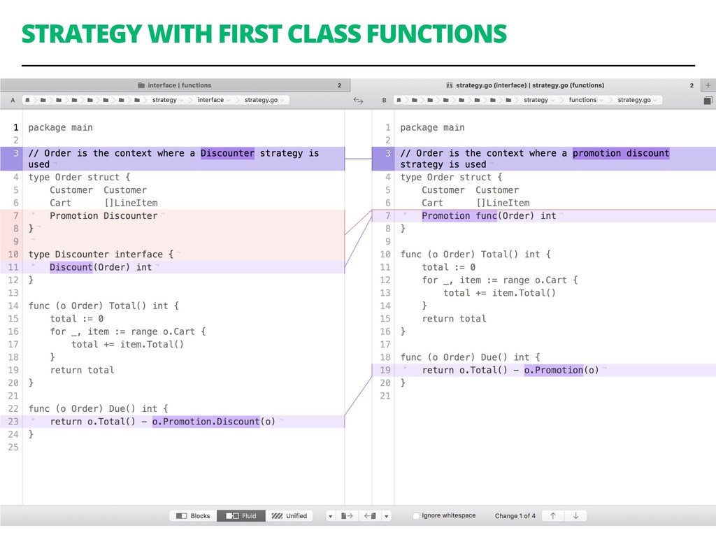 STRATEGY WITH FIRST CLASS FUNCTIONS 78