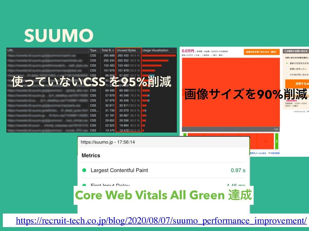SUUMO ͍ͬͯͳ͍CSS Λ95%ݮ ը૾αΠζΛ90%ݮ Core Web Vit...
