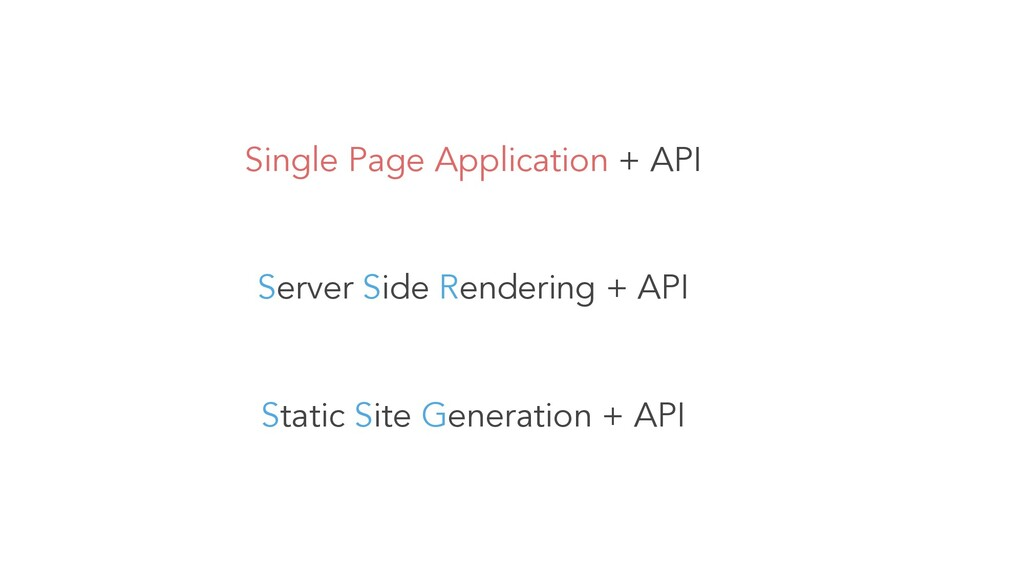 Single Page Application + API Server Side Rende...