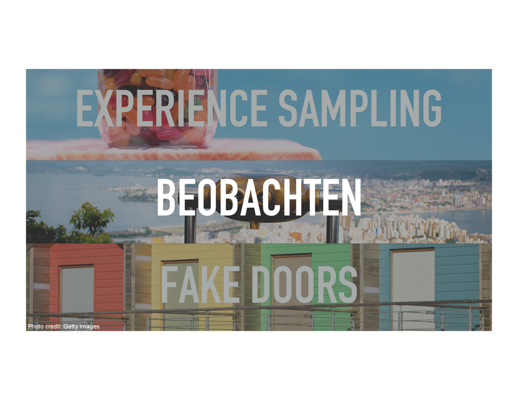 BEOBACHTEN EXPERIENCE SAMPLING FAKE DOORS Photo...