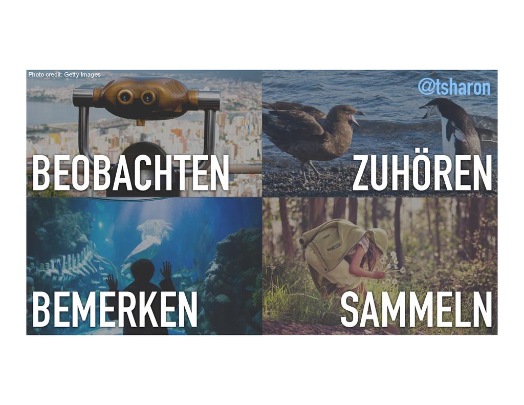 BEOBACHTEN ZUHÖREN BEMERKEN SAMMELN Photo credi...