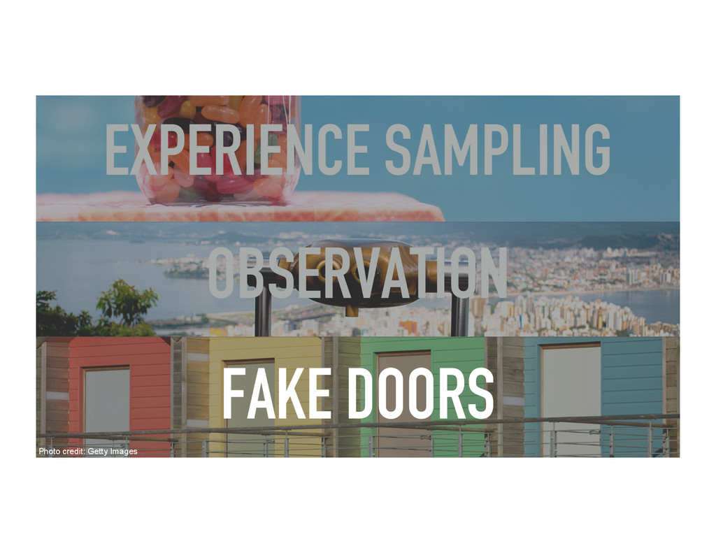 OBSERVATION EXPERIENCE SAMPLING FAKE DOORS Phot...