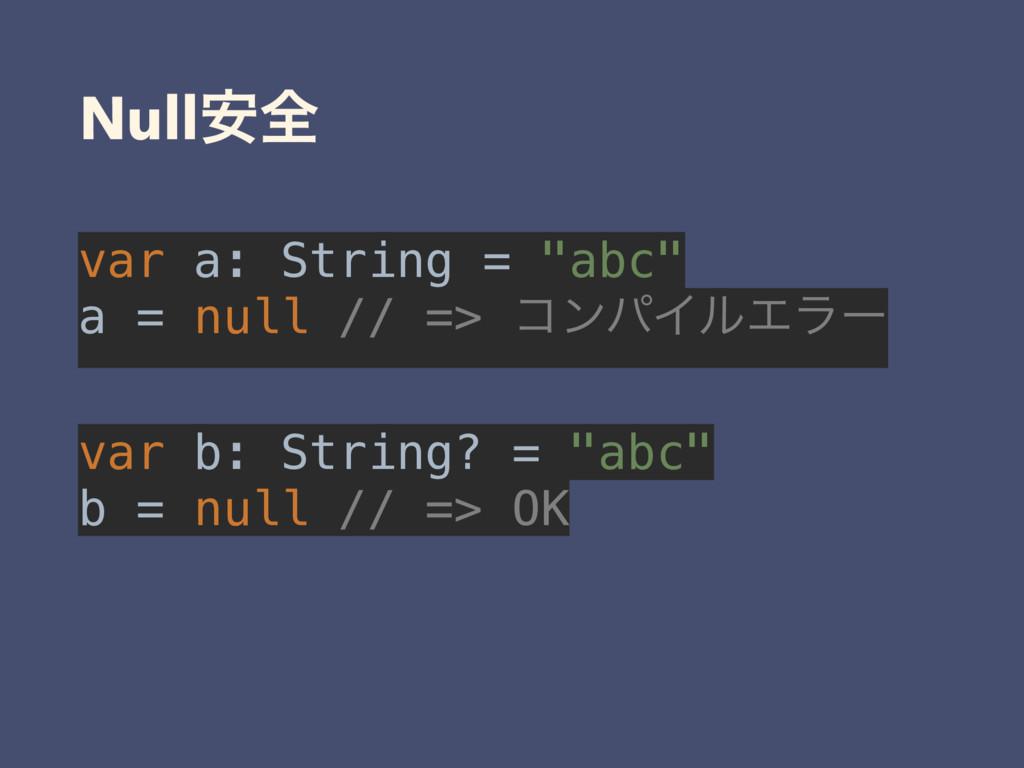 "Null҆શ var a: String = ""abc"" a = null // => ίϯ..."
