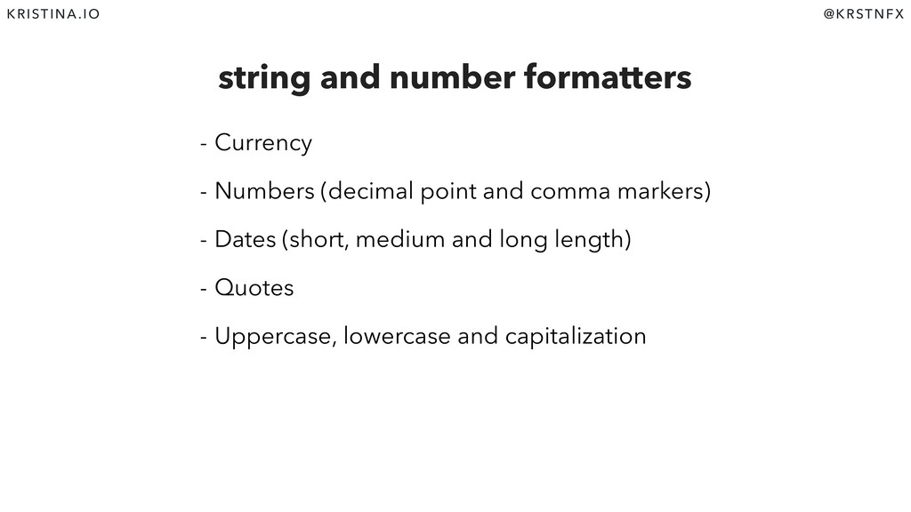 @KRSTNFX KRISTINA.IO string and number formatte...