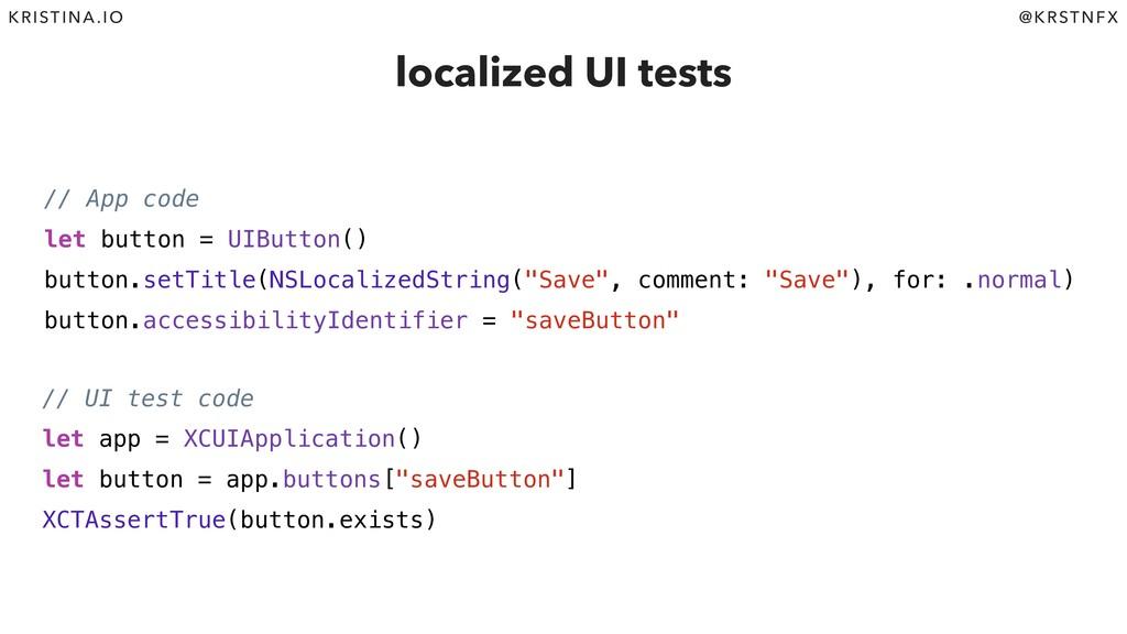@KRSTNFX KRISTINA.IO // App code let button = U...