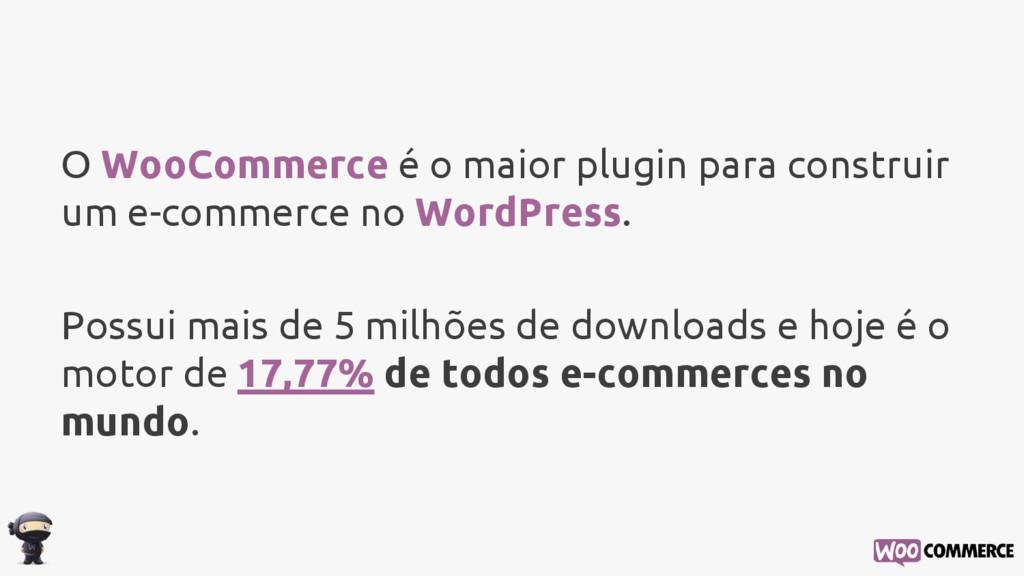 O WooCommerce é o maior plugin para construir u...