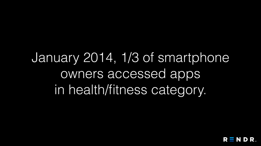 January 2014, 1/3 of smartphone owners accessed...