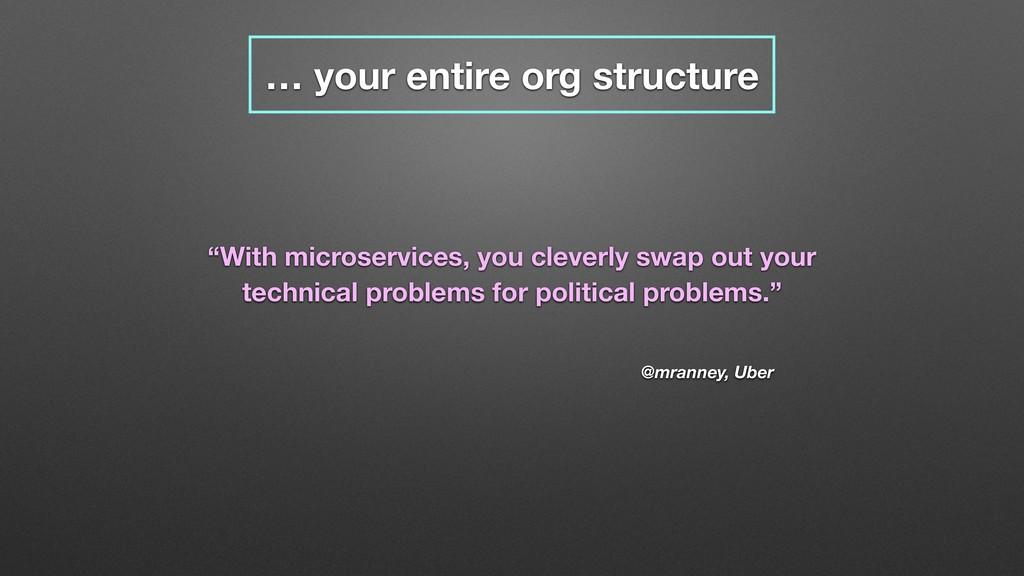 """… your entire org structure @mranney, Uber """"Wit..."""