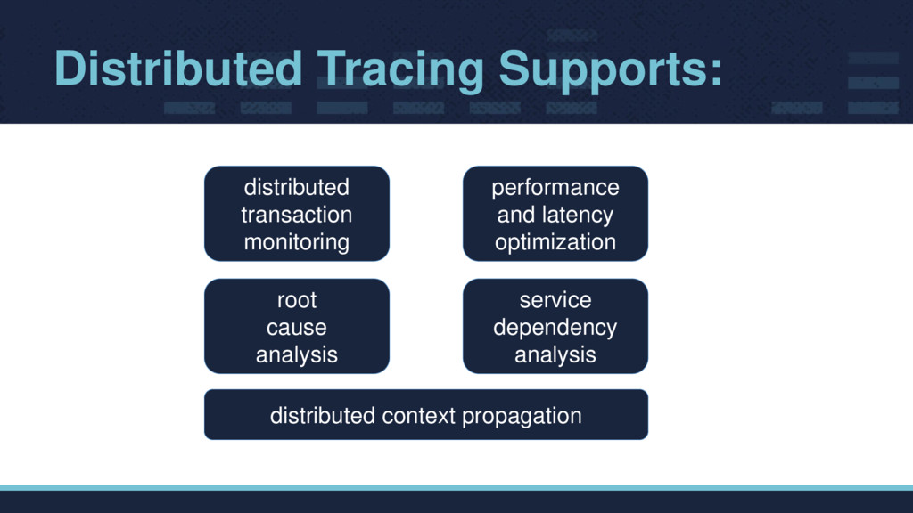 Distributed Tracing Supports: distributed trans...