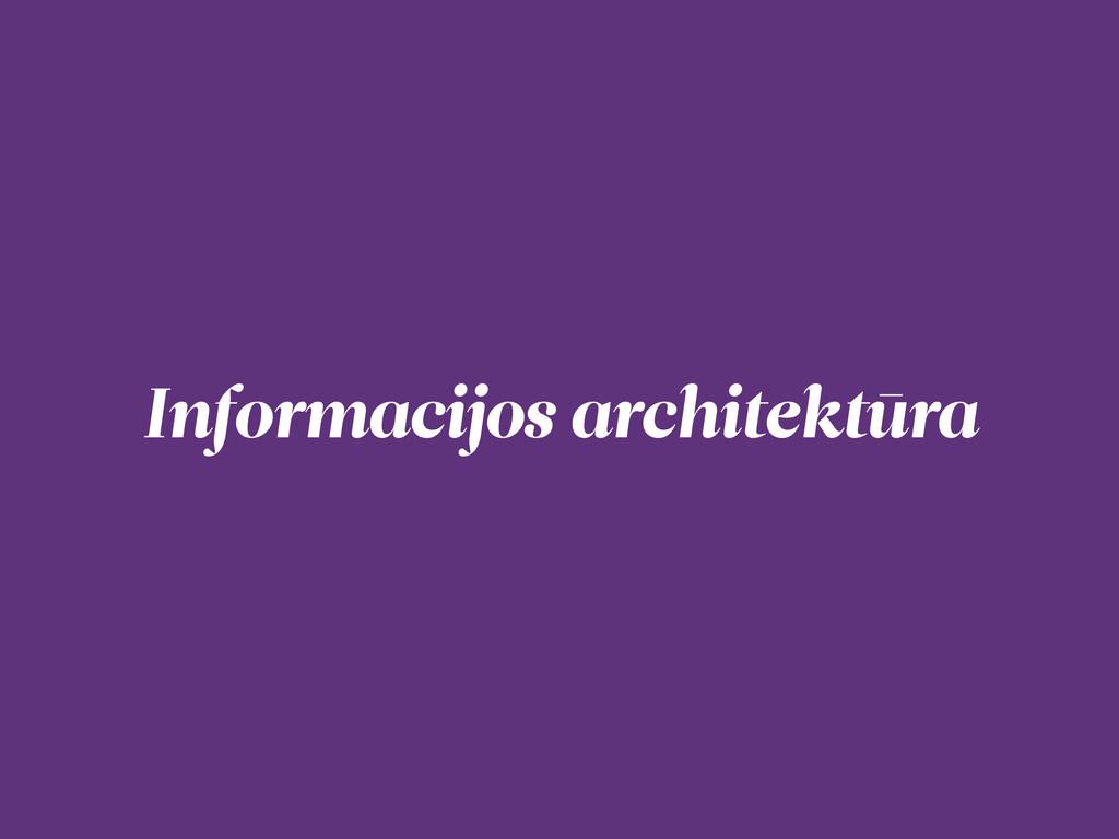 Informacijos architektūra