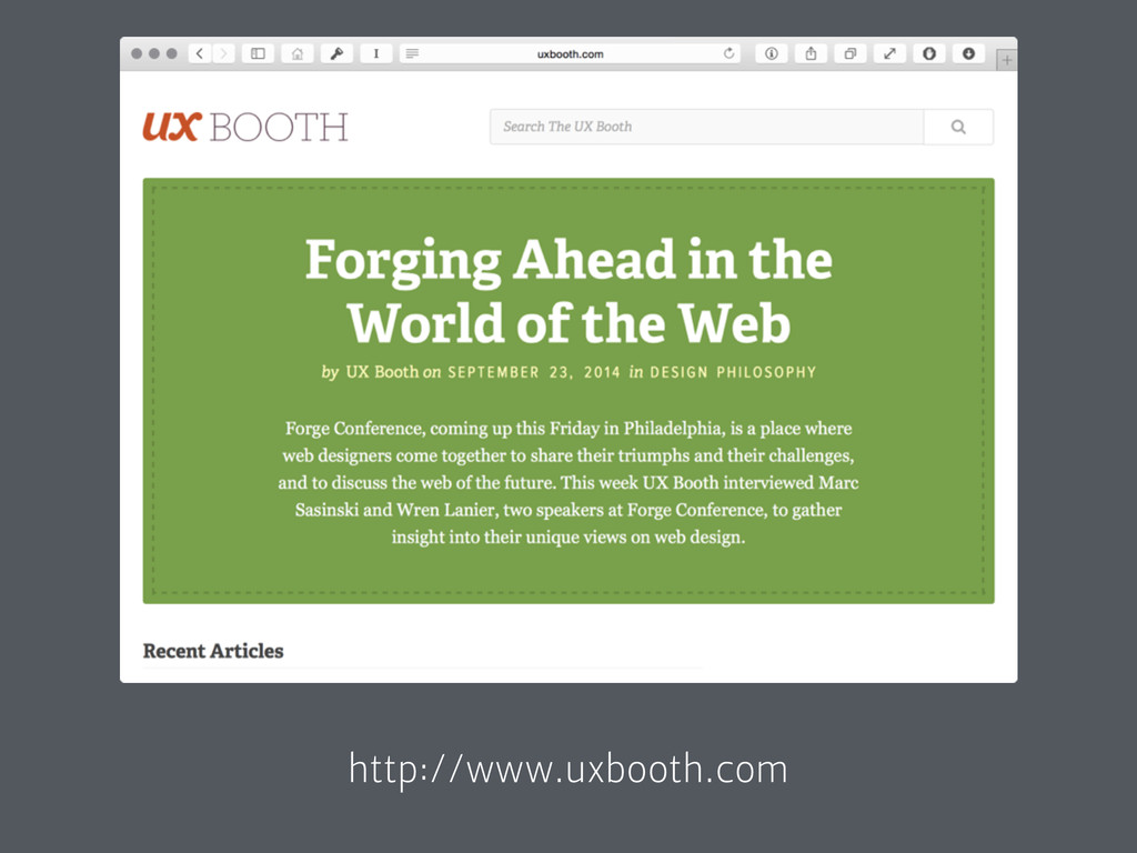 http://www.uxbooth.com