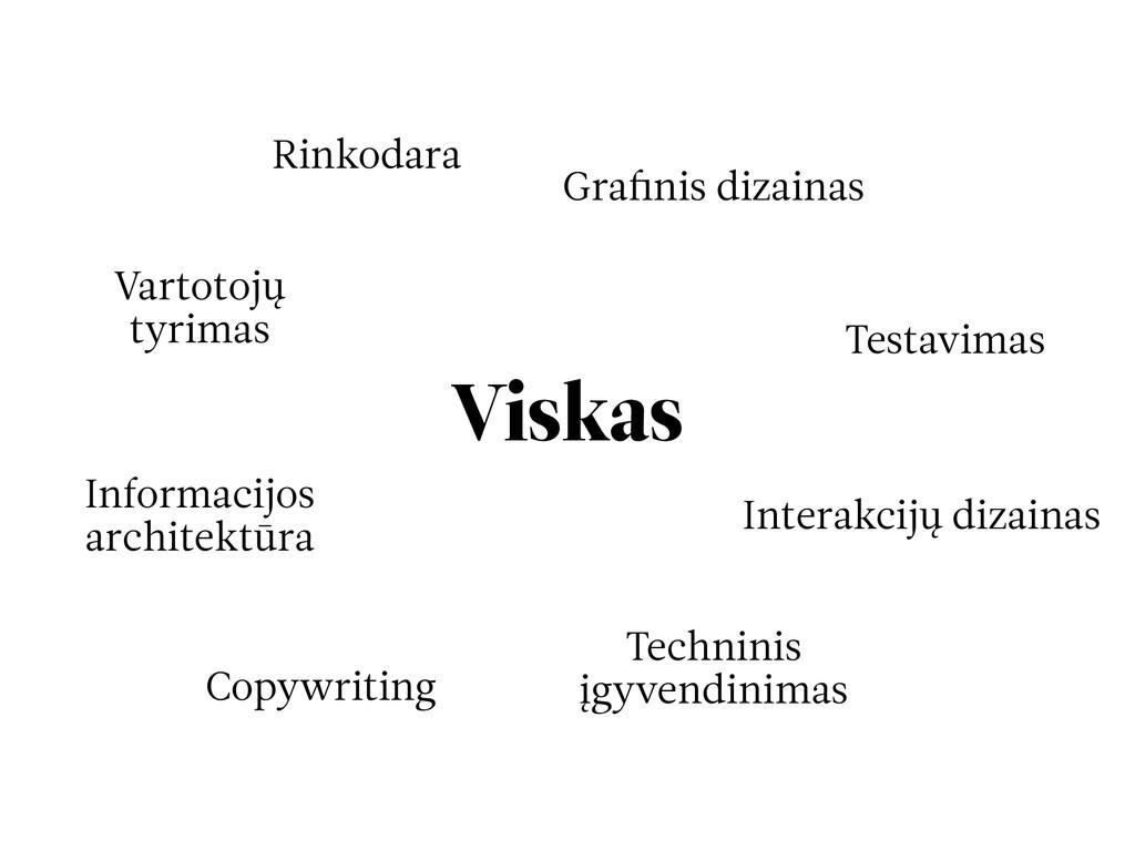 Viskas Rinkodara Grafinis dizainas Interakcijų d...