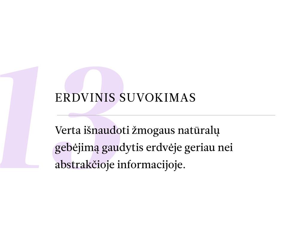 13 ERDVINIS SUVOKIMAS Verta išnaudoti žmogaus n...