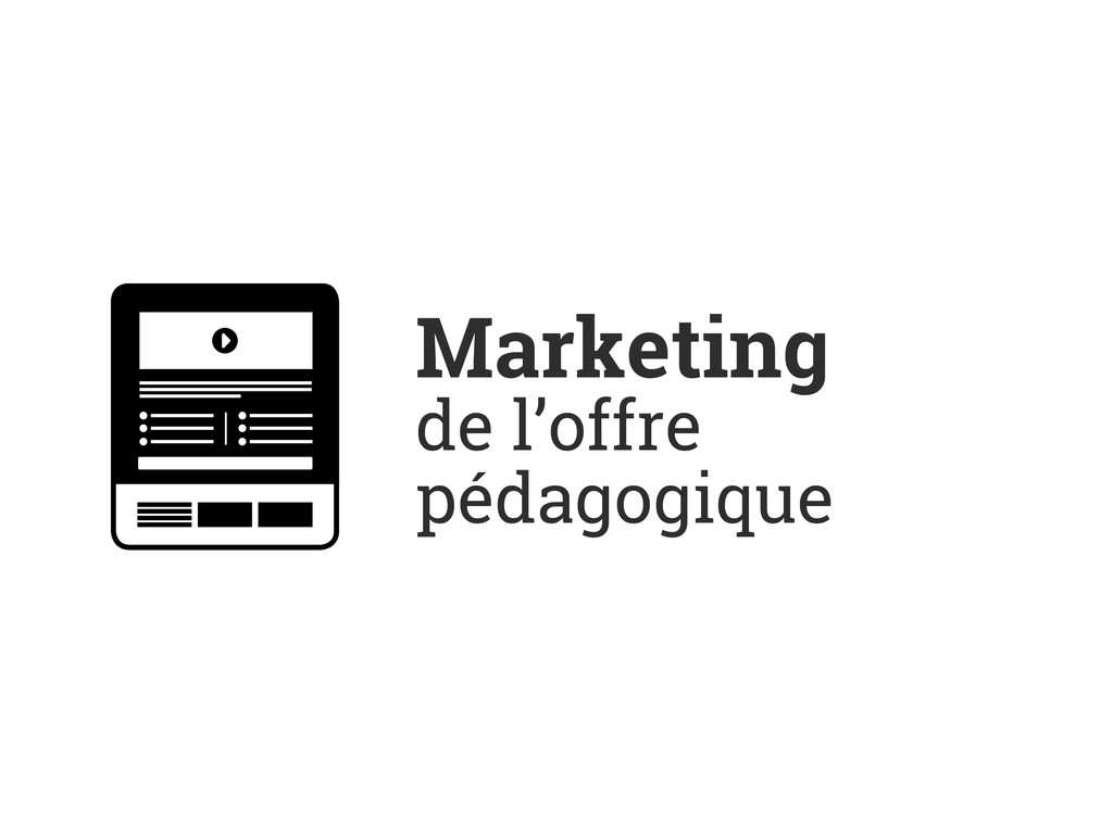 Marketing de l'offre pédagogique