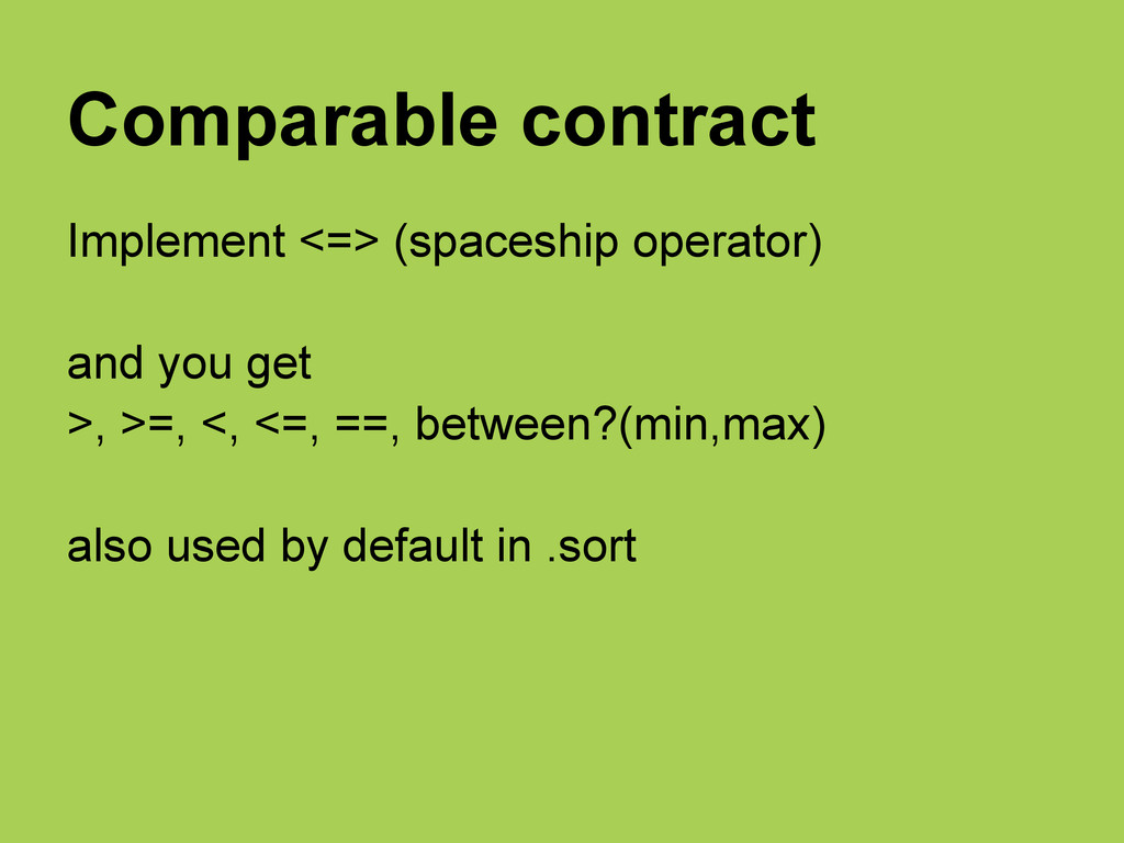 Comparable contract Implement <=> (spaceship op...