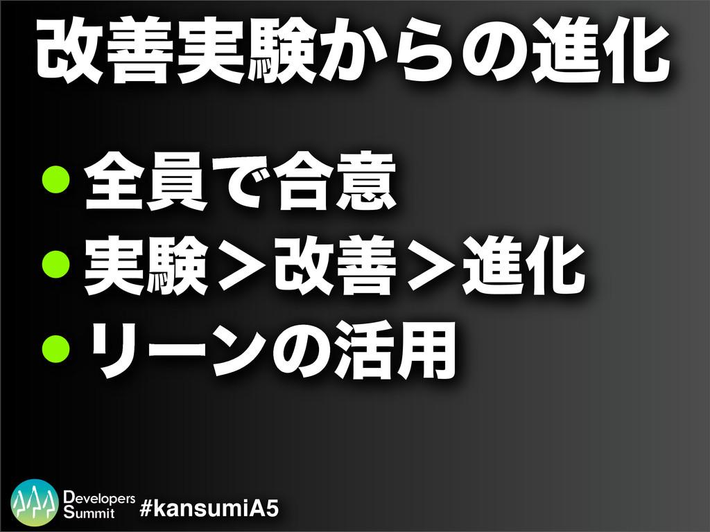 #kansumiA5 վળ࣮ݧ͔ΒͷਐԽ ! શһͰ߹ҙ ! ࣮ݧ'վળ'ਐԽ ! Ϧʔϯͷ׆༻